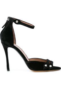 Tabitha Simmons Sandália Com Aplicações - Preto
