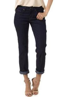 Calça Bloom Jeans Reta Judy Feminina - Feminino-Azul Escuro