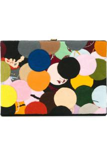 Olympia Le-Tan Clutch Com Patchwork - Estampado
