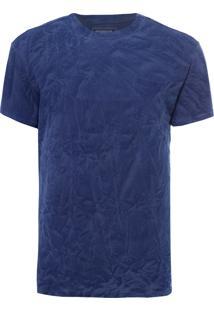 Camiseta Masculina Regular Amassadinha - Azul