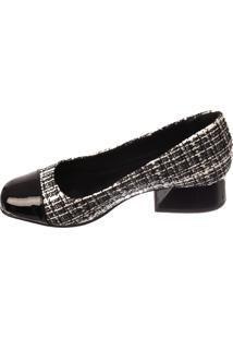 Scarpin Butique De Sapatos Branco-Preto