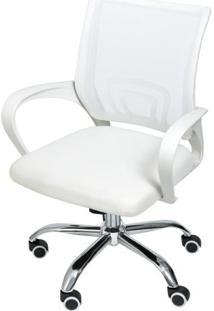 Cadeira Office Osorno Tela Mesh Branca Com Base Rodizio Cromada - 47407 Sun House