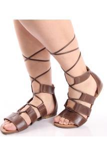 Sandália Top Franca Shoes Casual Marrom