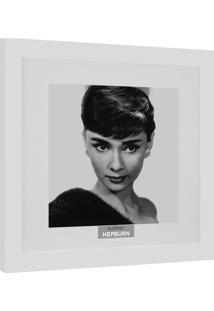 Quadro Contemporâneo Cinemania Audrey 34 X34 Cm Branco
