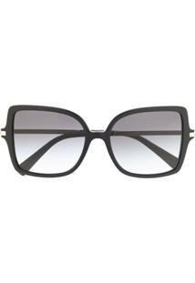 Valentino Eyewear Óculos De Sol Quadrado Oversized - Preto