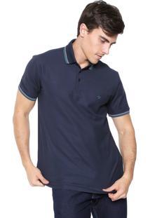 Camisa Polo Dudalina Reta Listras Azul-Marinho