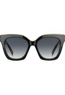 cb0aa52b16dc4 ... Marc Jacobs Eyewear Óculos De Sol Oversized - Preto