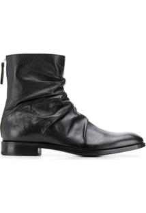 Premiata Ankle Boot De Couro - Preto