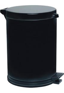 Lixeira Viel Plástico, 4,5 Litros, Com Pedal, Preto - 3516