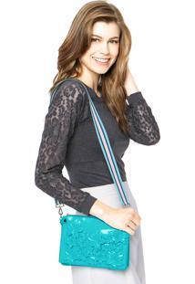 Bolsa Petite Jolie Flores Azul