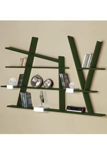 Prateleira Decorativa Turner 325 Verde Musgo - Maxima