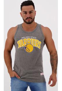 Regata Mitchell Ness Nba Golden State Warriors Cinza