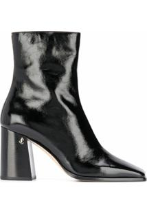 Jimmy Choo Ankle Boot Bryelle Com Salto 85Mm - Preto