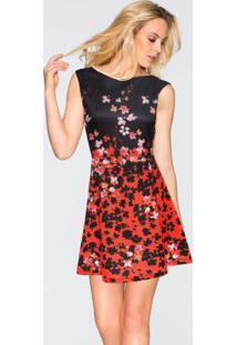 6cb1b94d5 ... Vestido Estampado Vermelho Floral