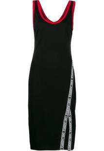 Karl Lagerfeld Snap Detail Dress - Preto