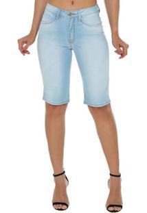 Bermuda Osmoze Mid Rise Middle Plus Feminina - Feminino-Azul Claro