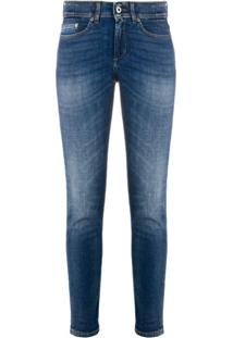 Dondup Monroe Low-Rise Slim-Fit Jeans - Azul