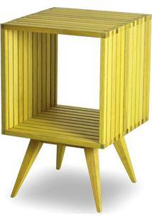 Mesa Lateral Dominoes Estrutura Amarela 45Cm - 61470 - Sun House
