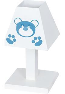Abajur Dã´Da Baby Urso Imperial Azul Beb㪠Mdf - Azul - Masculino - Dafiti