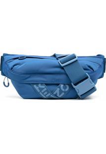 Kenzo Pochete Com Logo - Azul