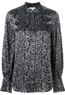 Equipment Leopard Print Blouse - Cinza