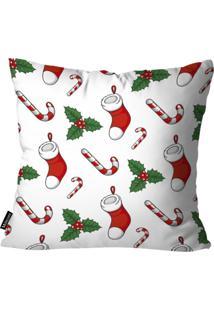 Capa Para Almofada Mdecor D Natal Mia Branco