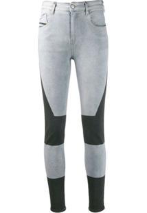 Diesel Calça Jeans Slandy Cintura Alta - Azul