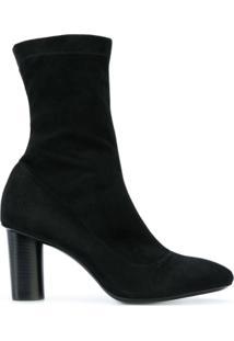 Barbara Bui Ankle Boot De Camurça - Preto