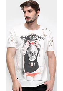 Camiseta Derek Ho Matruska Skull Masculina - Masculino-Bege Claro