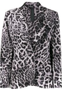 Norma Kamali Blazer Animal Print - Cinza