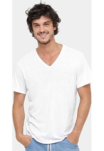 Camiseta Reserva Botonê Gola V Masculina - Masculino