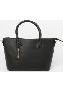 Bolsa Lisa Com Bag Charm - Preta - 23X38X14Cmloucos E Santos