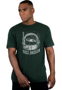 Camiseta Bleed American Galaxy Musgo