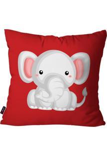 Capa De Almofada Pump Up Avulsa Vermelho Elefante 45X45Cm - Vermelho - Dafiti