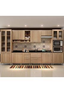 Cozinha Compacta Com Tampo 9 Peças 5807-S4T Sicília - Multimóveis - Argila Acetinado