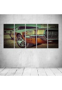 Quadro Decorativo - Old Car - Composto De 5 Quadros