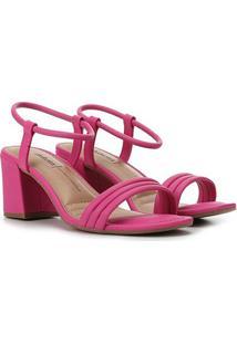 Sandália Dakota Salto Bloco Feminina - Feminino-Pink