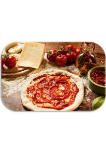 Tapete Love Decor Wevans Pizza Vermelho - Vermelho - Dafiti