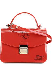 Bolsa Gash Mickey Mini Bag Alça Corrente Feminina - Feminino-Vermelho