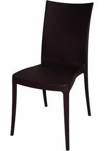 Cadeira Laura Fibra De Vidro Cor Marrom - 19614