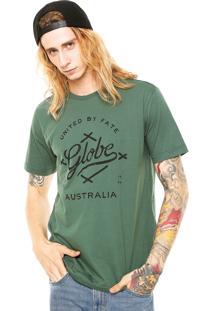 Camiseta Globe Reta Verde