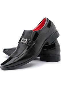 Sapato Social Couro Ruggero Ecológico Masculino - Masculino-Preto