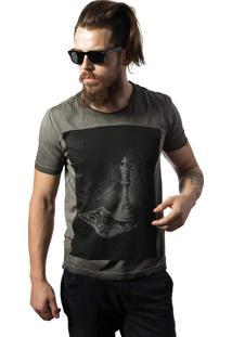 Camiseta Skull Lab King Cinza