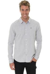 Camisa Timberland Mill River Linen Regular Masculina - Masculino-Cinza