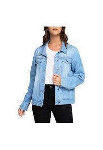 Jaqueta Jeans Feminina Billabong Such A Trip Azul