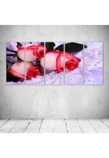 Quadro Decorativo - Strange Roses - Composto De 5 Quadros - Multicolorido - Dafiti