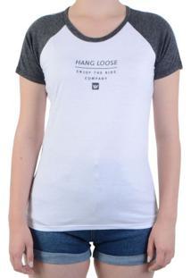 Blusa Hang Loose Baby Look Bicolor Company - Branco / M
