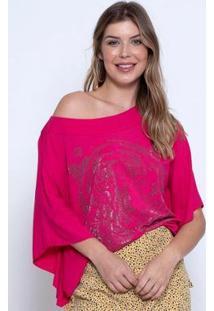 Blusa Bisô Tiger Feminina - Feminino-Pink
