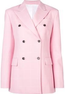 Calvin Klein 205W39Nyc Blazer Com Abotoamento Duplo - Rosa