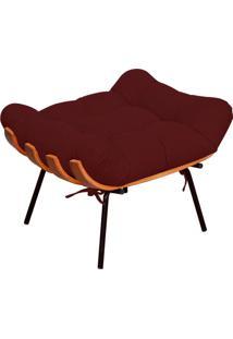 Puff Decorativo Sala De Estar Costela L02 Suede Marsala - Lyam Decor - Vermelho - Dafiti